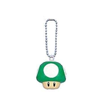 Amazon.com: Super Mario Bros Green Mushroom Clip en/llavero ...