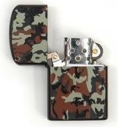 Army Outdoor Petrol Lighter - Windproof Storm Lighters - Many Different Colours Available - One Size, !00 Percent Cotton Jersey, Woodland A. Blöchel