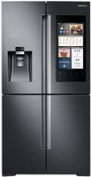 Samsung Black Stainless Steel 4-Door Flex Refrigerator With Family Hub 2.0 (Stainless Samsung Fridge)