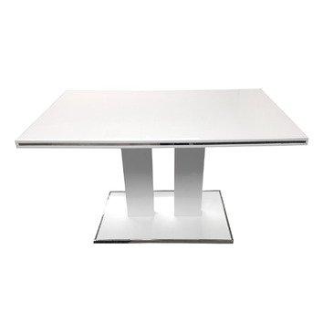 Armen Living Amanda Pedestal Dining Table in White