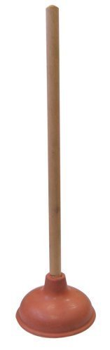 "Supply Guru SG1976 Heavy Duty Force Cup Rubber Toilet Plunger with a Long Wooden Handle to Fix Clogged Toilets and Drains (18"") from Supply Guru"