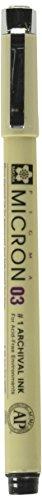 Sakura Pigma Micron Archival Pen - Medium Point (.25 mm) - Black Ink, Sold Individually