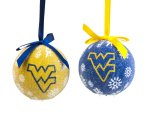 (bbsports West Virginia Mountaineers LED Ball Ornaments Set of 2)