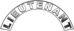 Lieutenant White Firefighter Fire Helmet Arcs / Rocker Decals Reflective