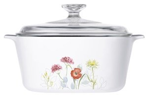 Corningware Covered Casserole (with Lid) (Country Cottage/Daisy Field) (3 Liter, Daisy Fields)