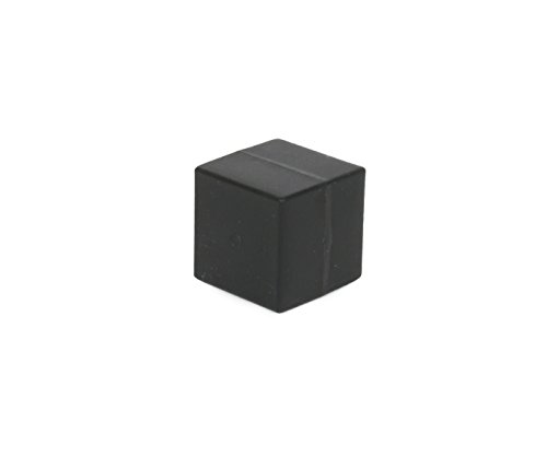 Unbreakable Plastic-Coated N52 Neodymium Cube Magnets, Waterproof, 1 x 1 x 1 inch. 2-Pack. Revitalizaire Strong Permanent NdFeB Rare Earth Magnets Coated with Hard Black Polypropylene by Revitalizaire (Image #1)