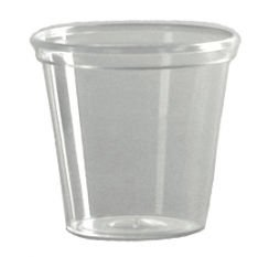 WNA P10 Comet Plastic Portion/Shot Glass, 1 oz, Clear (Case of 2500)