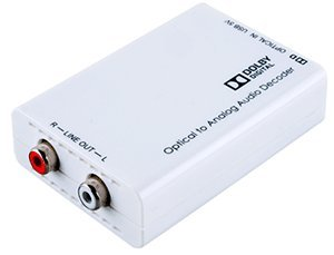 Dolby + PCM Optical Audio To Analog Stereo Sound Converter