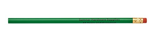 (Pencil Guy Promotional Personalized Imprinted Round Pencils Green 144 to a Box)