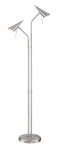 - Lite Source Talbot 2-Light Steel Cone Halogen Floor Lamp