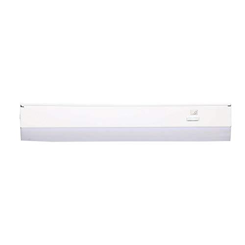 Good Earth Lighting 18-inch LED Slim Direct Wire Linking Light Bar - 2700K/3400K/4000K White Color Selectable - 50,000 Hours Lamp Life - Dimmable - Energy Star - White