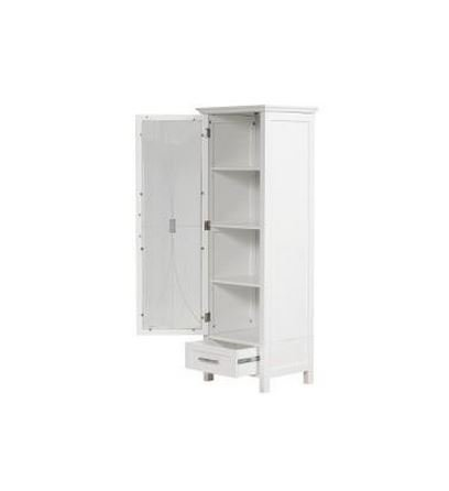 Bathroom Cabinet for All of Your Bathroom Linens. House All of Your Bathroom Accessories in This Beautiful Storage Cabinet. Bathroom Cabinets Make Great Bathroom Furniture, Especially This Tall Linen Storage Cabinet. Bathroom Storage Tower Is White. by Veranda Bay