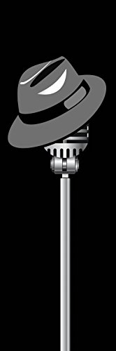 1art1 Posters: Music Poster Art Print - Fedora Hat and Microphone (36 x 12 inches)