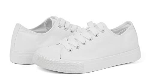 VenusCelia Pro Women's Perforated Skate Shoe (6 M US, White)