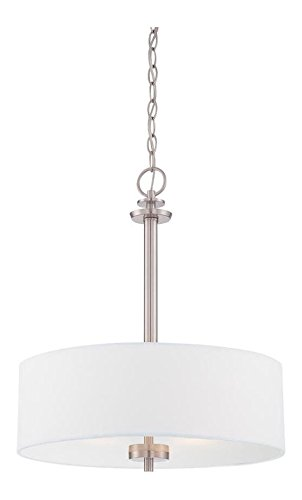 Satin Platinum Harlowe 3 Light Full Sized Foyer Pendant Satin Platinum 3 Light Pendant