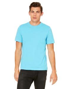 Bella + Canvas Unisex Poly-Cotton Short Sleeve Tee (Turquoise) (L)
