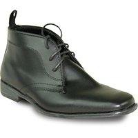 Allure Mens Garçon Boot Al02kid Mode Tuxedo Avec Matériau Sans Rides Noir