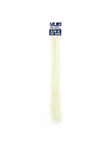 bulk buys Value Pack Glow Beaded Necklaces - White (Available in a Pack of 24) by bulk buys (Image #1)