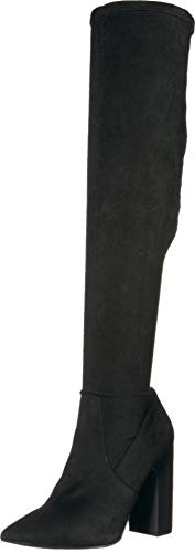 Steve Madden Women's GORGEENA Fashion Boot, Black, 6 M US