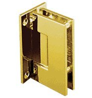 C.R. LAURENCE GEN037GP CRL Gold Plated Geneva 037 Series Wall Mount Full Back Plate Standard Hinge - Gold Plated Geneva Series