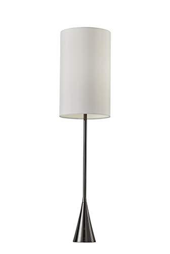 """Adesso 4028-01 Bella 36.5"""" Table Lamp, Black Nickel Finish"""