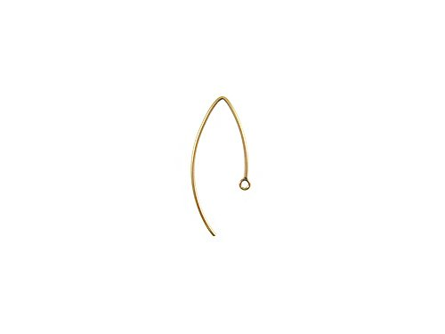 1 Pair Gold-filled Marque Shape Ear wire