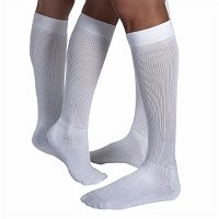 Jobst Medical LegWear ActiveWear Knee High Socks, Cool White, Medium, 1 pr - 2pc