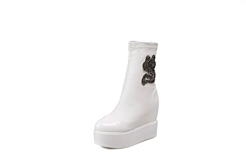 1to9 - Chelsea Boots Mujer, Blanco (blanco), 35