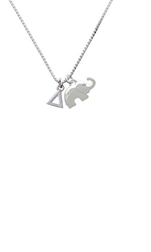 (Small Greek Letter - Delta - Elephant Necklace,)