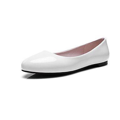 Cómodo y elegante soporte de zapatos de las mujeres pisos primavera verano otoño otros patente cuero oficina & carrera fiesta y noche Casual Flat Heel otros negro rosa rojo blanco blanco
