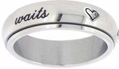 (Solid Rock Jewelry STAINLESS STEEL CURSIVE