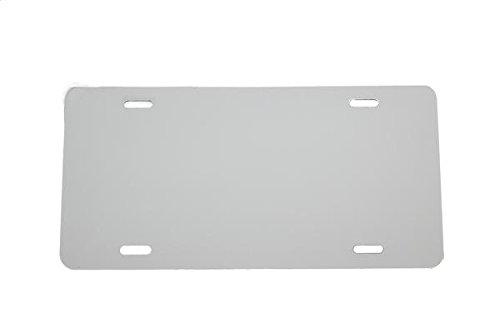 - LICENSEPLATETAGS.COM WHITE - Aluminum Blank License Plate - 12x6 .020 Gauge (0.5mm) Laser Cut - MADE IN USA