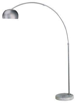 Trend Lighting Mid Arc Floor Lamp, Brushed Nickel