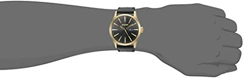 Nixon Men's A105 Sentry 42mm Stainless Steel Leather Quartz Movement Watch WeeklyReviewer