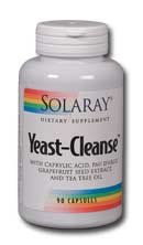 Yeast Cleanse 180 Capsules (Solaray - Yeast Cleanse, 180 capsules)