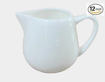 1 Dz Super White Porcelain Creamers (4 oz (2.4''H))