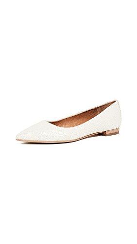 Frye Women's Sienna Ballet Flats, White, 8.5 B(M) US