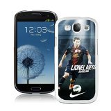 Soccer Player Lionel Messi White Samsung Galaxy S3 Cellphone Case Lovely and Grace (Soccer Galaxy S3 Case)