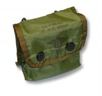 Military Issue Medical Instrument Pouch (First Aid Kit), Genuine U.S. Military Issue
