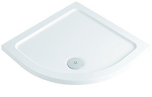 MX Group 5017706811132 800 x 800 ABS DucoStone 550 Quadrant Flat Top Shower Tray by MX (Quadrant Shower Trays)
