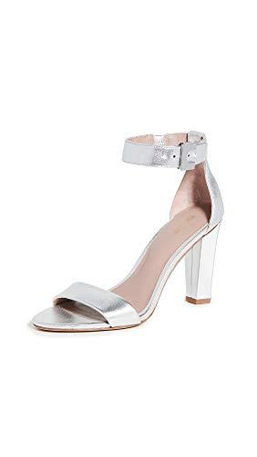 Diane von Furstenberg Women's 90mm Chainlink Sandals, Silver, 10 Medium US