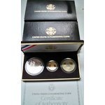 Gold and Silver 3 piece Proof set. 1989 U.S. Congressional coins