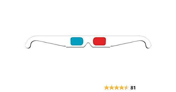 4 Pair 3D Anaglyph Glasses Blue//Red /& Green//Red Full Frame