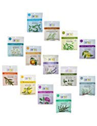 Aura Cacia 2.5 Oz Mineral Bath Packet, All 13 scents Variety Pack ()