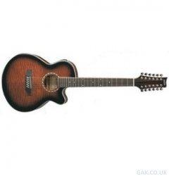 ASHTON SL29/12CEQTSB - Guitarra electroacústica (pastillas combinación, puente fijo, arce, 12 cuerdas), color marrón: Amazon.es: Instrumentos musicales