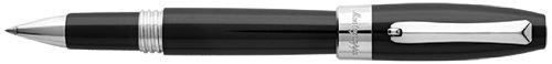 Montegrappa Fortuna Rollerball Pen - Black/Palladium ISFORRPC