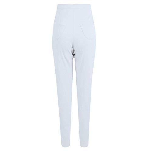 Color De Mujer Leggings Para Cintura 23 Alta Hx Elást Pantalones Fashion Basic Lápiz Con Ewcqg67Xv