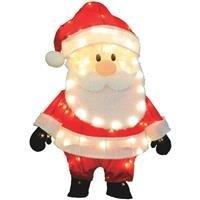 "Product Works 32"" Pre-Lit Santa Claus Christmas Yard Art Dec"