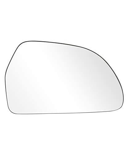 Landrol Passenger Side Exterior Replacement Non-heated Mirror Glass Compatible fit for Audi - Heated Mirrors Bathroom Round