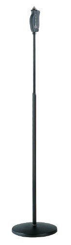 One Hand Microphone Stand - K & M One-Hand Mic Stand - Round Base